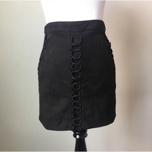 SEEK The Label Shoelace Criss-Cross Mini Skirt
